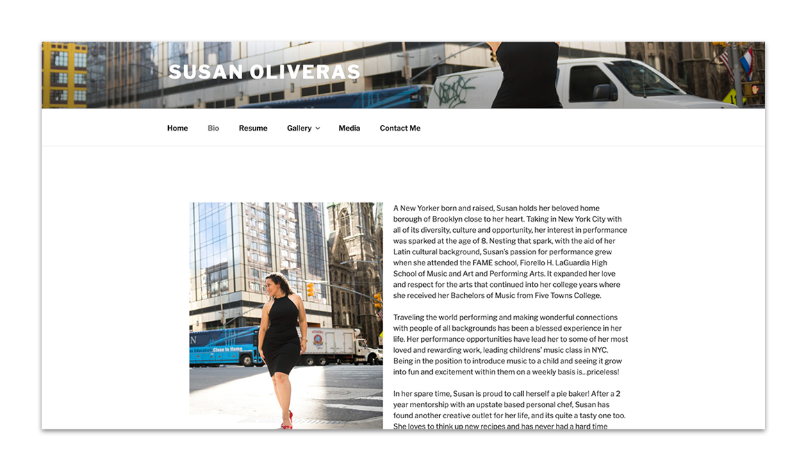 Susan Oliveras bio layout